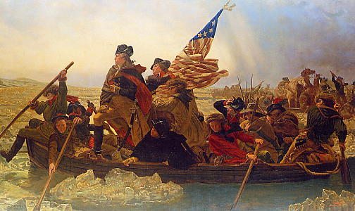 Washington crosses river
