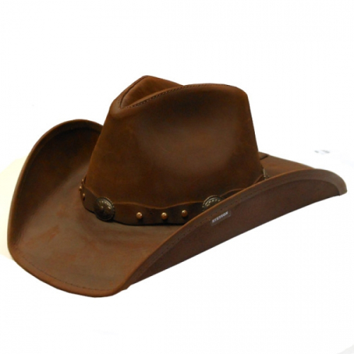 Stetson-Leather-Hat-Brown-S