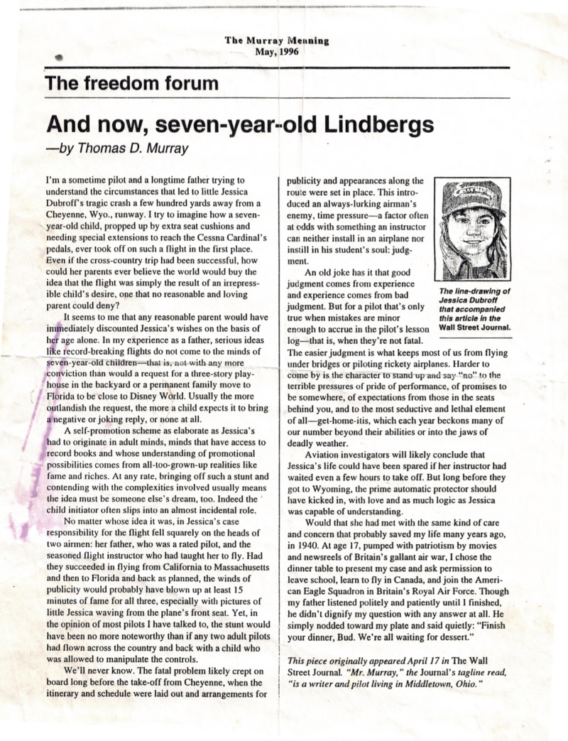 Seven-year-old Lindbergs